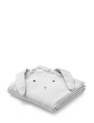 Hannah muslin cloth rabbit 2 pack - RABBIT DUMBO GREY