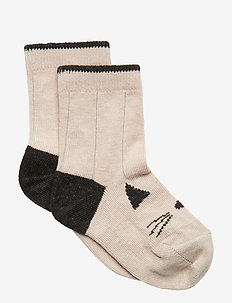 Silas cotton socks - CAT SWEET ROSE