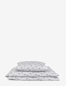 Carmen baby bedding print - sengetøy - paperplane dumbo grey