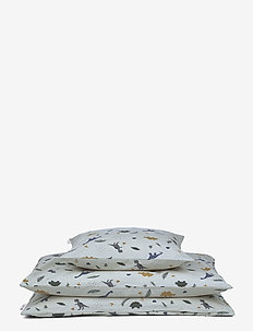 Carmen baby bedding print - beddings - dino dove blue mix