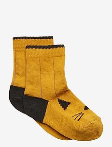 Silas cotton socks - CAT MUSTARD