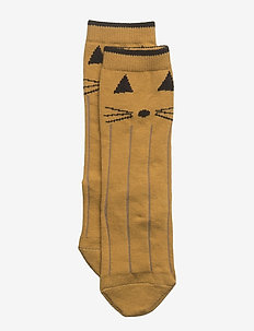 Sofia cotton knee socks - CAT MUSTARD