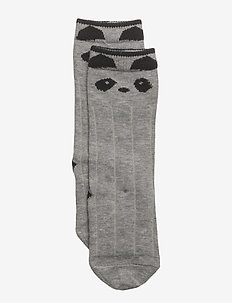 Sofia cotton knee socks - PANDA GREY MELANGE