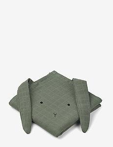 Hannah muslin cloth rabbit 2 pack - ręczniki i szmatki - rabbit faune green