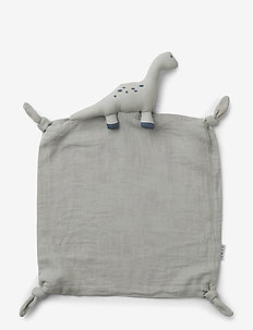 Agnete cuddle cloth - cuddle blankets - dino dove blue