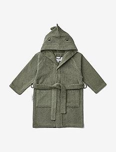 Lily bathrobe - badekåber - dino faune green