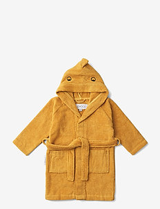Lily bathrobe - bademäntel - dino yellow mellow