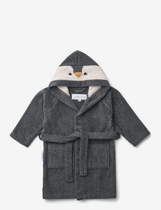 Lily bathrobe - bademäntel - penguin stone grey