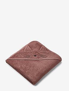 Augusta hooded towel - CAT DARK ROSE