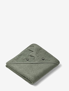 Augusta hooded towel - DINO FAUNE GREEN