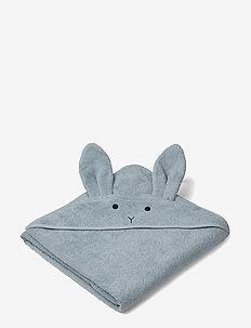 Augusta hooded towel - RABBIT SEA BLUE