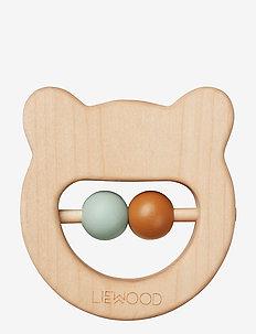Ivalu wood teethers - mr bear natural