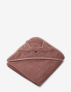 Albert Hooded Towel - CAT DARK ROSE