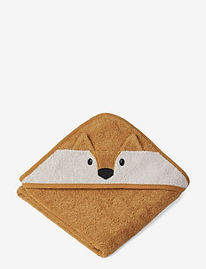 Albert Hooded Towel - serviettes et draps - fox mustard