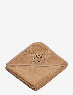 Albert hooded towel - accessories - leopard apricot