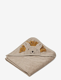 Albert Hooded Towel - LION STONE BEIGE
