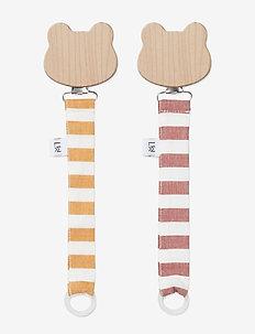 Sia pacifier strap 2 pack - Y/D STRIPE