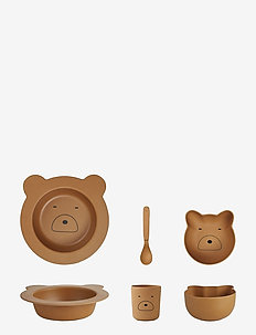 Barbara bamboo baby set - MR BEAR MUSTARD