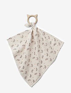 Dines teether cuddle cloth - FERN/ROSE