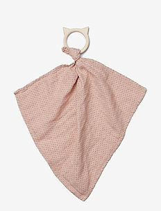 Dines teether cuddle cloth - pokój zabaw - little dot rose