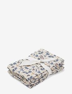 Hannah muslin cloth print 2 pack - CORAL FLORAL/MIX