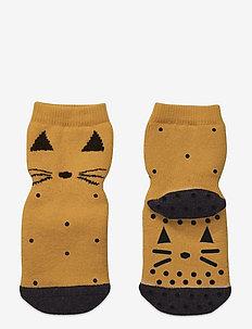 Nellie anti slip socks 2-pack - skarpetki antypoślizgowe - cat mustard