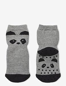 Nellie anti slip socks 2-pack - skarpetki antypoślizgowe - panda grey melange