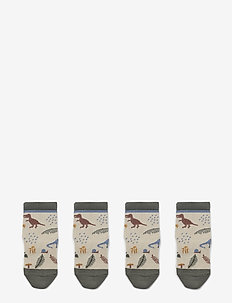 Silas cotton socks - 2 pack - strømper - dino mix