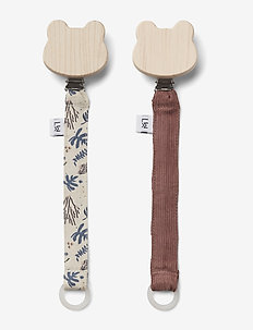 Barry pacifier strap - 2 pack - CORAL FLORAL/MIX