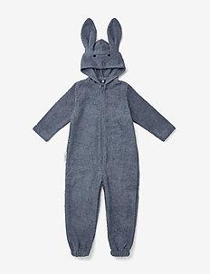 Taylor Jumpsuit - długi rękaw - rabbit blue wave