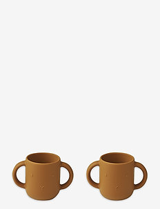 Gene silicone cup - 2 pack - cups & mugs - rabbit mustard