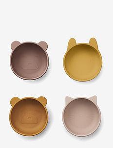 Iggy silicone bowls - 4 pack - talerze i miski - rose mix