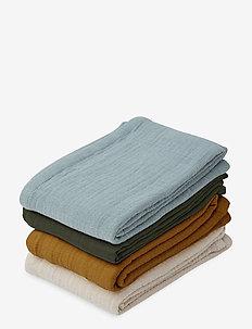 Leon muslin cloth - 4 pack - muslins - blue multi mix