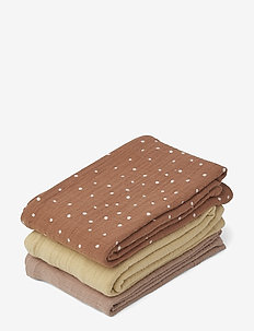 Line muslin cloth - 3 pack - CONFETTI TERRACOTTA MIX