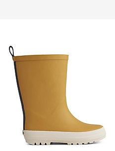 River rain boot - uforede gummistøvler - yellow mellow/creme de la creme mix