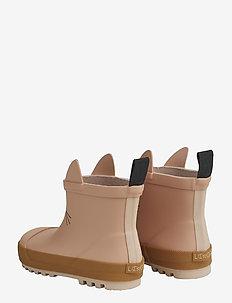 Tekla rain boot - uforede gummistøvler - cat dark rose mix