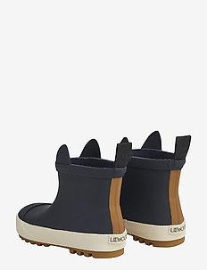 Tekla rain boot - uforede gummistøvler - panda navy mix