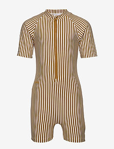 Max Swim jumpsuit seersucker - Y/D STRIPE