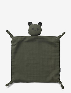 Agnete cuddle cloth - kocyki - panda hunter green