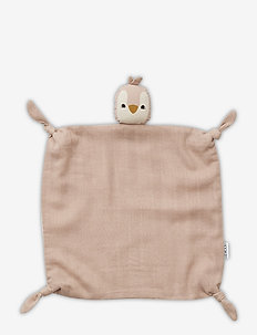 Agnete cuddle cloth - schmusetuch - penguin rose