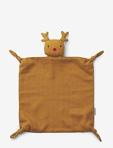 Agnete cuddle cloth - schmusetuch - reindeer mustard