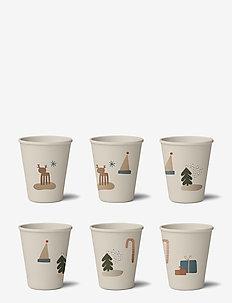 Gertrud bamboo cup 6-pack - tassen & becher - holiday mix
