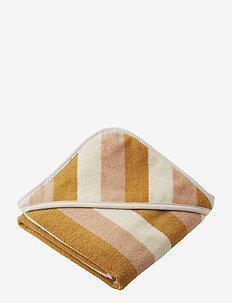 Alba hooded baby towel - akcesoria - y/d stripe