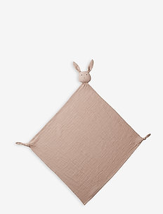 Robbie multi muslin cloth - cuddle blankets - rabbit rose