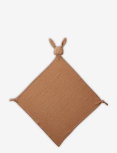 Robbie multi muslin cloth - cuddle blankets - rabbit terracotta