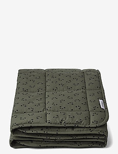 Ebbe quilted blanket - koce i kołdry - panda hunter green