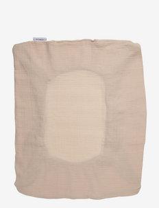 Cliff muslin changing mat cover - changing mats - sandy