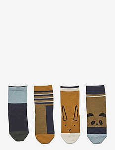 Silas cotton socks - 4 pack - strümpfe - olive green multi mix