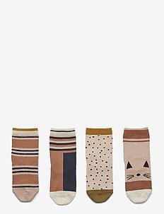 Silas cotton socks - 4 pack - skarpetki - rose multi mix