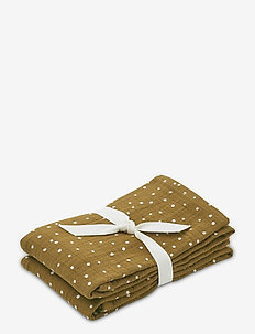 Lewis muslin cloth 2-pack - napkins & accessories - confetti olive